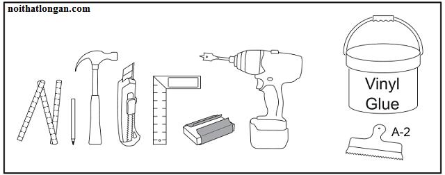 Các dụng cụ để lắp sàn nhựa
