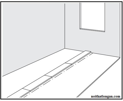 Lót thử từng tấm theo khoảng cách đã chia