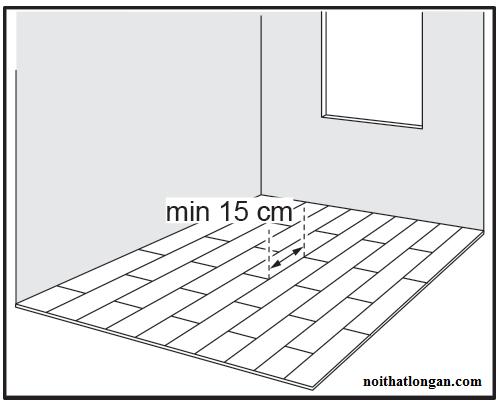 Tạo tính thẩm mỹ cao thì khoảng cách kỹ sư đưa ra khoảng giữa 2 miếng ghép là 15cm